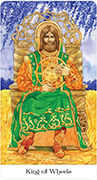 King of Wheels Tarot card in Tarot of the Golden Wheel deck
