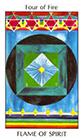 tarot-spirit - Four of Fire