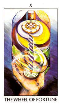 Wheel of Fortune Tarot Card - Tarot of the Spirit Tarot Deck