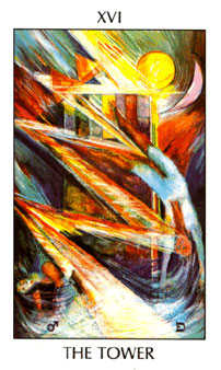 The Falling Tower Tarot Card - Tarot of the Spirit Tarot Deck