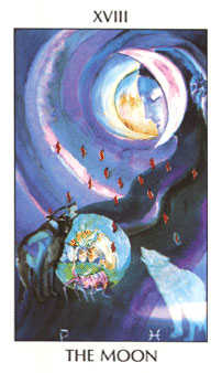The Moon Tarot Card - Tarot of the Spirit Tarot Deck