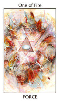 Ace of Rods Tarot Card - Tarot of the Spirit Tarot Deck