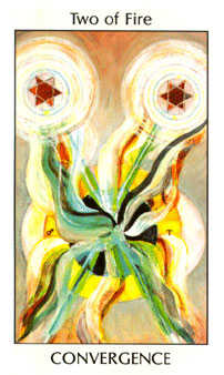 Two of Staves Tarot Card - Tarot of the Spirit Tarot Deck