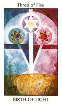 Three of Lightening Tarot Card - Tarot of the Spirit Tarot Deck