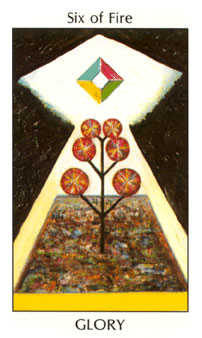 Six of Fire Tarot Card - Tarot of the Spirit Tarot Deck