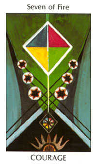 Seven of Rods Tarot Card - Tarot of the Spirit Tarot Deck