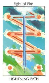 Eight of Lightening Tarot Card - Tarot of the Spirit Tarot Deck
