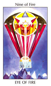 Nine of Fire Tarot Card - Tarot of the Spirit Tarot Deck