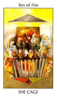 Ten of Staves Tarot Card - Tarot of the Spirit Tarot Deck
