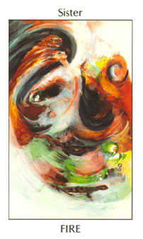 Page of Lightening Tarot Card - Tarot of the Spirit Tarot Deck