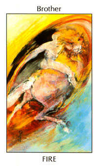 Brother of Fire Tarot Card - Tarot of the Spirit Tarot Deck