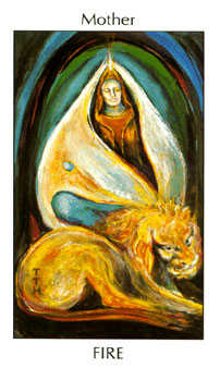 Queen of Pipes Tarot Card - Tarot of the Spirit Tarot Deck