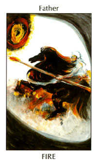 King of Clubs Tarot Card - Tarot of the Spirit Tarot Deck
