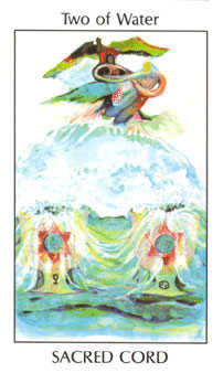 Two of Hearts Tarot Card - Tarot of the Spirit Tarot Deck
