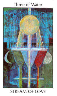 Three of Ghosts Tarot Card - Tarot of the Spirit Tarot Deck
