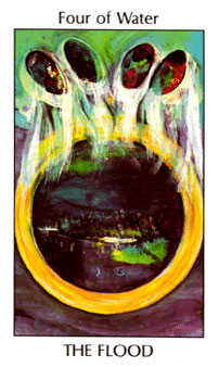 Four of Cauldrons Tarot Card - Tarot of the Spirit Tarot Deck