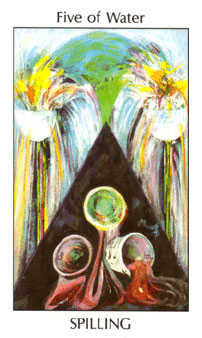 Five of Ghosts Tarot Card - Tarot of the Spirit Tarot Deck