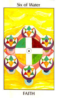Six of Hearts Tarot Card - Tarot of the Spirit Tarot Deck