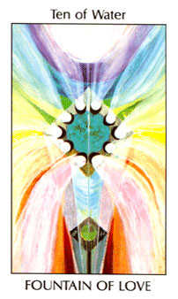 Ten of Hearts Tarot Card - Tarot of the Spirit Tarot Deck