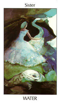 Daughter of Cups Tarot Card - Tarot of the Spirit Tarot Deck