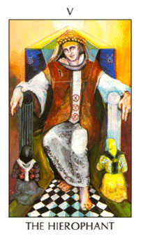 The Hierophant Tarot Card - Tarot of the Spirit Tarot Deck