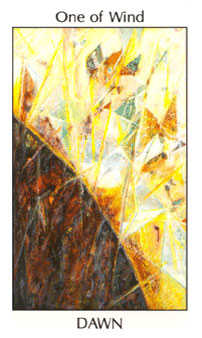 Ace of Wind Tarot Card - Tarot of the Spirit Tarot Deck