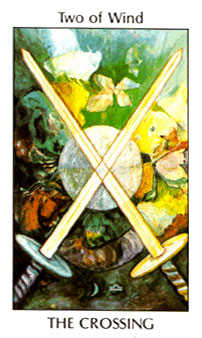 Two of Wind Tarot Card - Tarot of the Spirit Tarot Deck