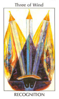 Three of Wind Tarot Card - Tarot of the Spirit Tarot Deck