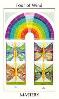 Four of Wind Tarot Card - Tarot of the Spirit Tarot Deck