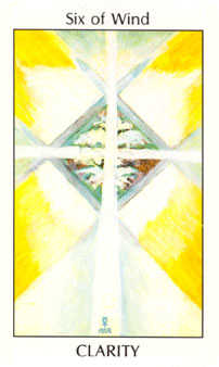 Six of Wind Tarot Card - Tarot of the Spirit Tarot Deck