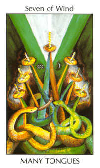 Seven of Wind Tarot Card - Tarot of the Spirit Tarot Deck
