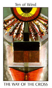Ten of Arrows Tarot Card - Tarot of the Spirit Tarot Deck