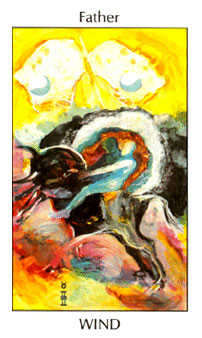 Father of Wind Tarot Card - Tarot of the Spirit Tarot Deck