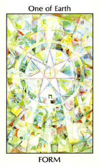 Ace of Discs Tarot Card - Tarot of the Spirit Tarot Deck