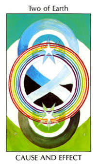 Two of Rings Tarot Card - Tarot of the Spirit Tarot Deck