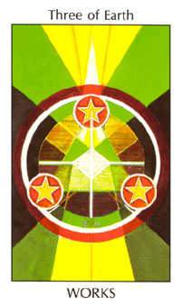 Three of Discs Tarot Card - Tarot of the Spirit Tarot Deck