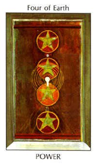 Four of Pumpkins Tarot Card - Tarot of the Spirit Tarot Deck