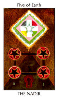 Five of Discs Tarot Card - Tarot of the Spirit Tarot Deck