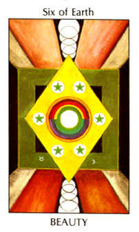 Six of Discs Tarot Card - Tarot of the Spirit Tarot Deck