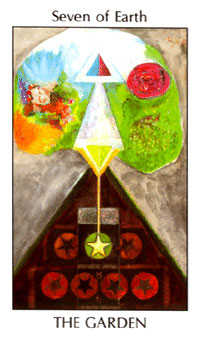 Seven of Coins Tarot Card - Tarot of the Spirit Tarot Deck