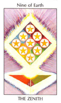 Nine of Stones Tarot Card - Tarot of the Spirit Tarot Deck