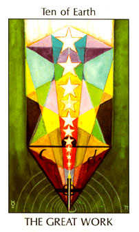 Ten of Spheres Tarot Card - Tarot of the Spirit Tarot Deck