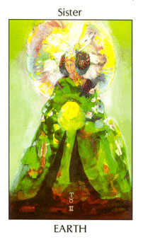 Daughter of Coins Tarot Card - Tarot of the Spirit Tarot Deck