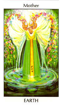 Queen of Diamonds Tarot Card - Tarot of the Spirit Tarot Deck