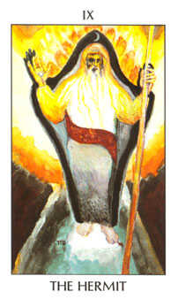 The Anchoret Tarot Card - Tarot of the Spirit Tarot Deck