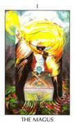 The Magician Tarot card in Tarot of the Spirit Tarot deck