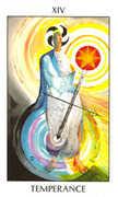 Temperance Tarot card in Tarot of the Spirit Tarot deck
