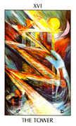 The Tower Tarot card in Tarot of the Spirit Tarot deck