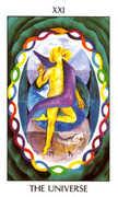 The World Tarot card in Tarot of the Spirit Tarot deck