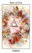 Ace of Fire Tarot card in Tarot of the Spirit Tarot deck